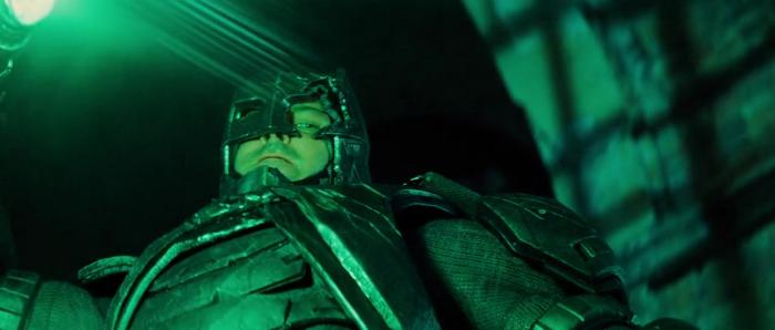 Figure 3 - Batman raises the spear - Z Snyder